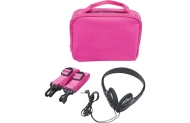 Portable 7 Inch DVD Gadget Bag - Pink