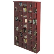 PIGEON HOLE - CD Media Storage Shelves - Mahogany