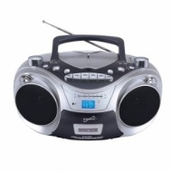 Supersonic SC-709 Portable MP3/CD Player with Cassette Recorder, AM/FM Radio & USB Input