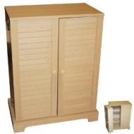 MAGELLAN - CD / DVD / Blu-ray / Video Media Storage Cupboard - Beech