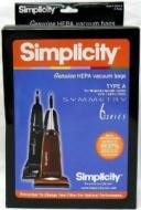 Simplicity Type A HEPA Vacuum Cleaner Bags 6 Pack