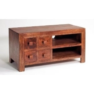 Cube Mango Dakota Hardwood TV Cabinet with drawers