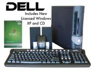 DELL GX SMALL FORM FACTOR FULL PC COMPUTER SYSTEM READY TO USE WITH WIRELESS USB BRAODBAND ADAPTOR PRE LOADED WINDOWS XP HOME COMES WITH A MATCHING DE