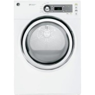 General Electric GE 7.0 cu. ft. Gas Dryer with Steam in White GFDS140GDWW