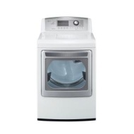 LG - SteamDryer 7.3 Cu. Ft. 14-Cycle Ultra-Large Capacity Steam Electric Dryer - White DLEX5170W
