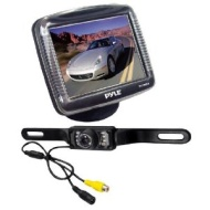 Pyle 3.5'' Slim TFT LCD Universal Mount Monitor w/ License Plate Mount Rearview