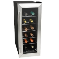 EdgeStar 12 Bottle Stainless Steel Slim-Fit Wine Cooler