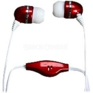 Polaroid Stereo Earbud with Built-in Microphone Burgundy/Red