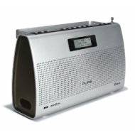 Pure Elan Portable Stereo DAB & FM Digital Clock & Radio ( VL 60726 ) - Silver