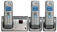 GE 28223EE3 Dect 6.0 Advanced Cordless Phone with Google Free Directory Assistance Goog-411, CID, ITAD, and 3 Handsets