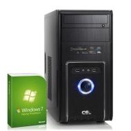 Silent office PC! CSL Speed Speed H4200u (Dual) incl. Windows 7 - computer system with Intel Pentium G3420 2x 3200 MHz, 500GB HDD, 4GB DDR3 RAM, Intel