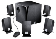 Creative Labs Inspire 5200 5.1 Computer Speakers (6-Speaker, Black)