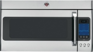 GE Cafe Series CVM2072SMSS 2.0 cu. ft. Over-the-Range Microwave Oven, 1100 Cooking Watts, Dual-Distribution Cooking System, Recessed Turntable, Ventin