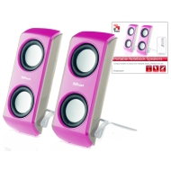 Trust 16168 Portable Notebook Speaker PINK
