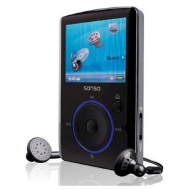 Sandisk Sansa Fuze 8GB MP3 and Video Player with FM Radio, Voice Recorder, microSD/SDHC Slot, BLACK, BULK PACKAGED