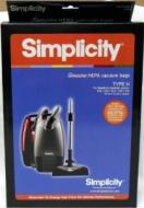 Simplicity Type H HEPA Vacuum Cleaner Bags 6 Pack
