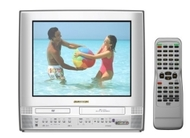 "Sylvania 20"" Flat-Tube TV/DVD/VCR Combo with Front A/V Jacks/MP3 Playback - Silver - 6720FDE"