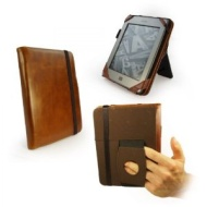 "Tuff-luv Etui avec stand en Cuir Vintage 'Embrace Plus' avec support pour Amazon Kindle 4 / Touch / Paperwhite / 6"" E-Ink e-reader - Marron"