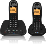 BT 1500 Cordless DECT Phone with Answer Machine (Pack of 2)