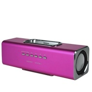 GadgetinBox™ Rechargeable Music Angel Docking Speakers For Apple iPhone's / iPod's (Pink)