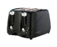 Russell Hobbs Black Seattle Toaster