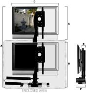 LFT-100 Universal TV mounting system, works with any LCD or plasma TV
