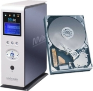 Mvix (MV-5000R) Multimedia Center (w/ LCD) + 400GB HDD Bundle