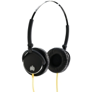 Ministry of Sound 005 Headphones - Black with Yellow Cable
