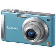 Panasonic - 8.1MP Digital Camera, Ultra Slim, Lumix - Blue