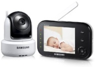 Samsung SEW-3037 Baby Monitoring System 8.9 cm (3.5 Inch) LCD Monitor up to 4 Cameras / QVGA / CMOS-Sensor / Night Vision White