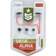 Siege Audio Alpha Stereo Ear Buds (Green)