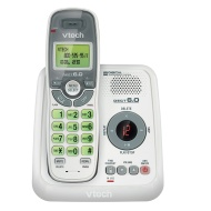 VTech CS6124 DECT 60 Cordless Phone with Answering System and Caller IDCall Waiting White with 1 Handset With Answering System