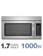 Whirlpool MH2175XSS - Microwave oven - over-range - 48.1 litres - 1000 W - stainless steel