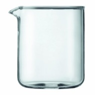 Bodum Spare Glass Carafe for French Press Coffee Maker, 4-Cup, 0.5-Liter, 17-Ounce