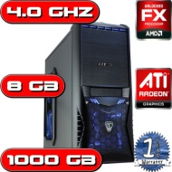 OVERCLOCKED AMD BULLDOZER 4.0GHZ ATI HD 3000 8GB RAM 1TB FAST GAMING COMPUTER PC