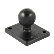 "RAM SQUARE BASE WITH 1"" BALL"