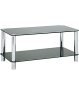 Hygena Matrix Black Glass Coffee Table