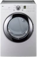 LG DLG2102W White 7.3 cu. ft. Ultra Capacity Gas Dryer with 5 Temperature Levels, 5 Options, Sensor Dry System, Electronic Control Panel with Dial-A-C