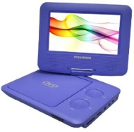 SDVD7027 Portable DVD Player - 7 LCD 16:9 Swivel Display USB SD/MMC Card Slot Remote Control Blue (Refurbished) Sylvania SDVD7027 Portable DVD Player