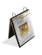Umbra Portochef 26-Page Free-Standing Recipe Easel, Black
