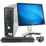 "Dell OptiPlex 745 Pentium D 3400 MHz 80Gig Serial ATA HDD 4096mb DDR2 Memory DVD ROM Genuine Windows 7 Professional 32 Bit + 19"" Flat Panel LCD Monito"