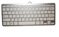 MYCARRYINGCASE Aluminum 78 Key Wired USB Mini Keyboard for PC, Mac, PS3, Xbox360