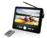 Axion AXN-8701 7-Inch Widescreen Handheld LCD TV with Built-In Tuner, Black