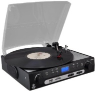 PYLE PLTTB9U USB Turntable with direct-to-digital USB/SD Card Encoder and Built-in AM/FM Radio Conversion