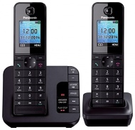 Panasonic KX-TGH 222 DUO Cordless Phone with Answering Machine ( DECT,Hands Free Functionality, Low Radiation )