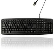 USB Keyboard Wired Slim Stylish Qwerty Keyboard UK EU Layout For PC Laptop Computer 1030