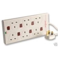 6 Way Extension lead with Surge Protection + Switched Individually
