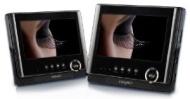 Odys Sync Tragbarer DVD-Player mit zusätzlichem 17,8 cm (7 Zoll) Bildschirm (SD-Kartenslot, USB) schwarz