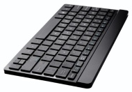 Perixx PERIBOARD-804 UK, Wireless Bluetooth Keyboard - Black - Up to 10 Meters Operating Range - Ultrathin 6.5mm Design - 261x129mm Portable Size - Si