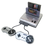 Retro Duo Twin Video Game System NES & SNES - Silver/Black